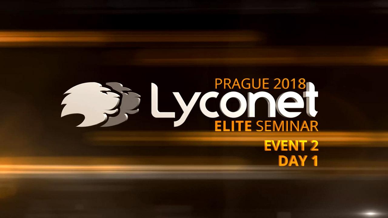Lyconet Elite Seminar - Prague 2018 - Event 2, Day 1