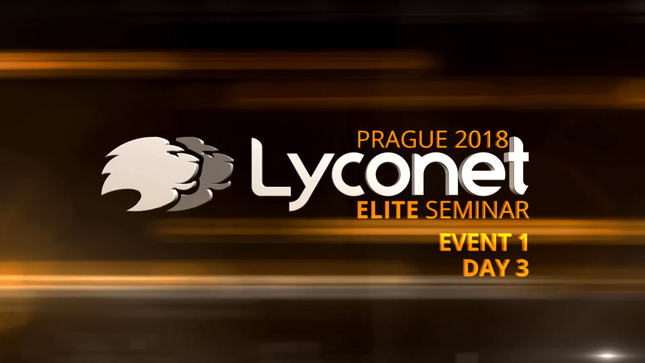 Lyconet Elite Seminar - Prague 2018 - Event 1, Day 3