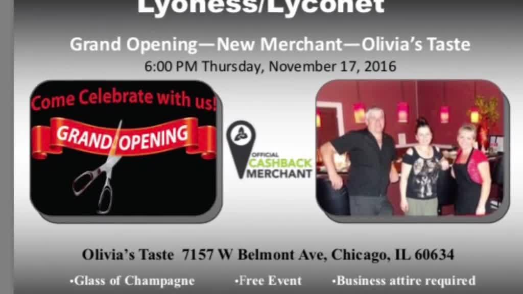 Grand Opening Olivia's Taste Restaurant in Chicago