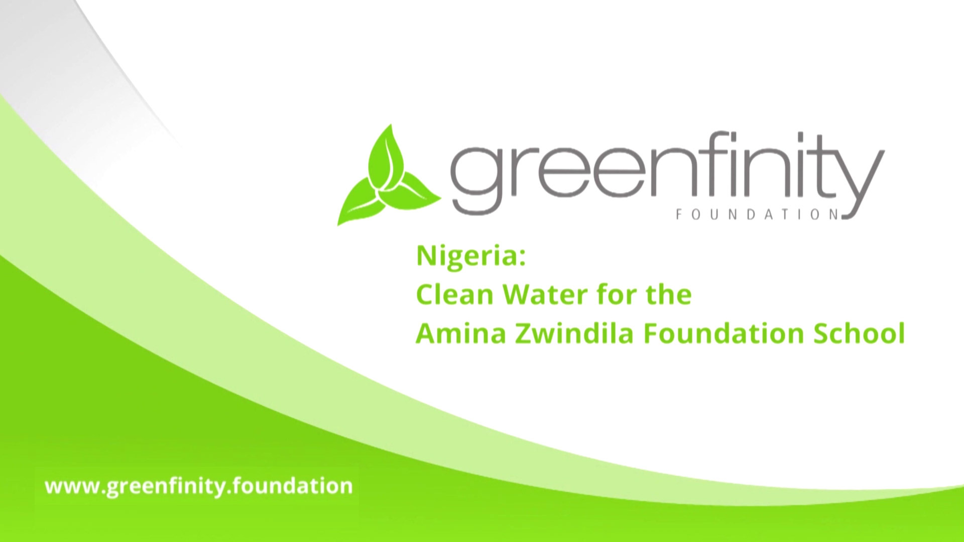 Nigeria: Clean Water for the Amina Zwindila Foundation School