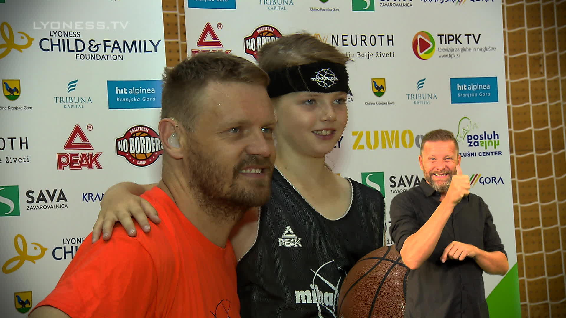 Basketball Training with professional player, Miha Zupan – Sign Language
