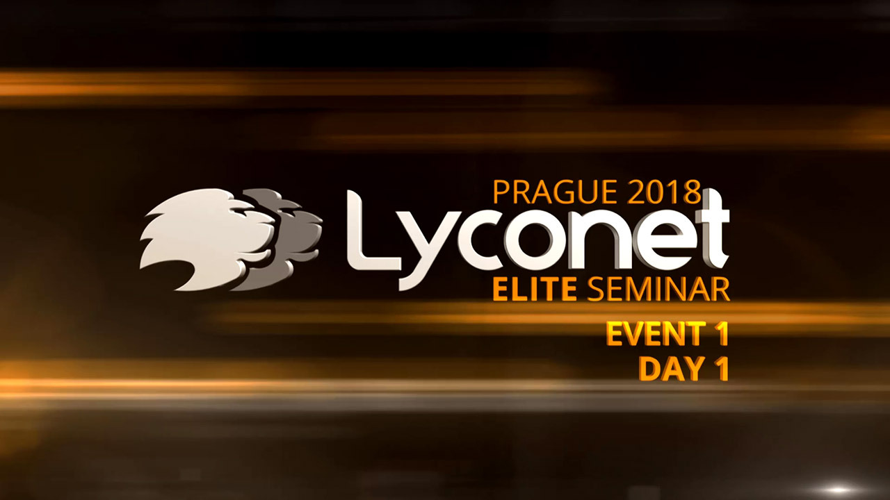 Lyconet Elite Seminar - Prague 2018 - Event 1, Day 1