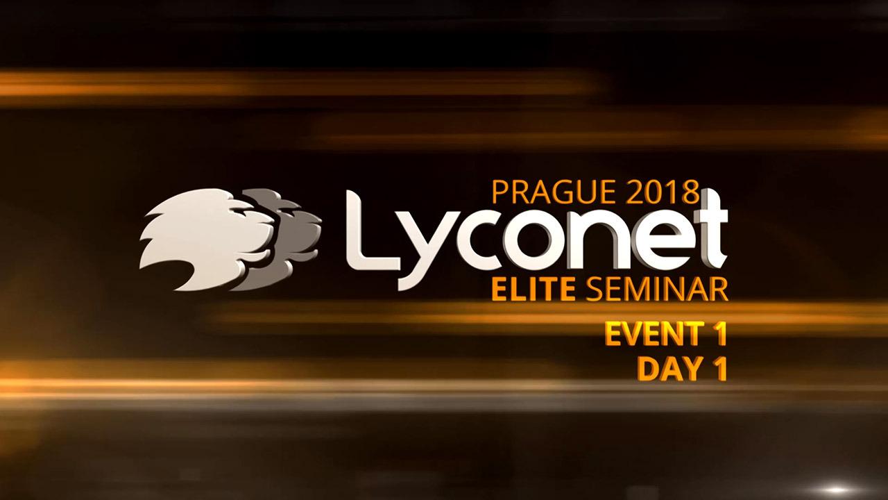 Lyconet Elite Seminar - Prague 2018 - Event 1, Day 1