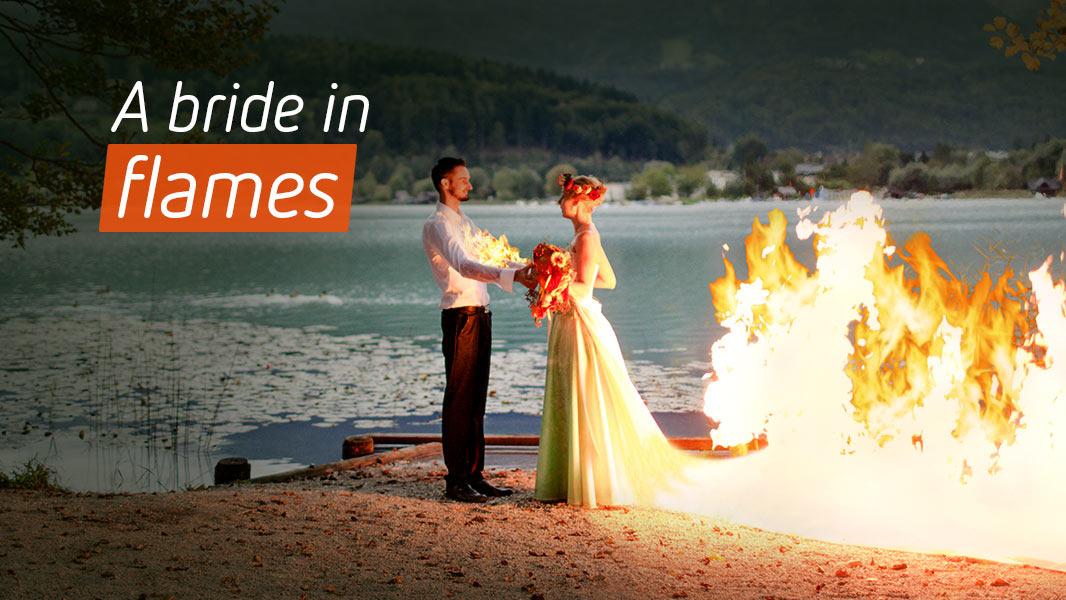 A bride in flames