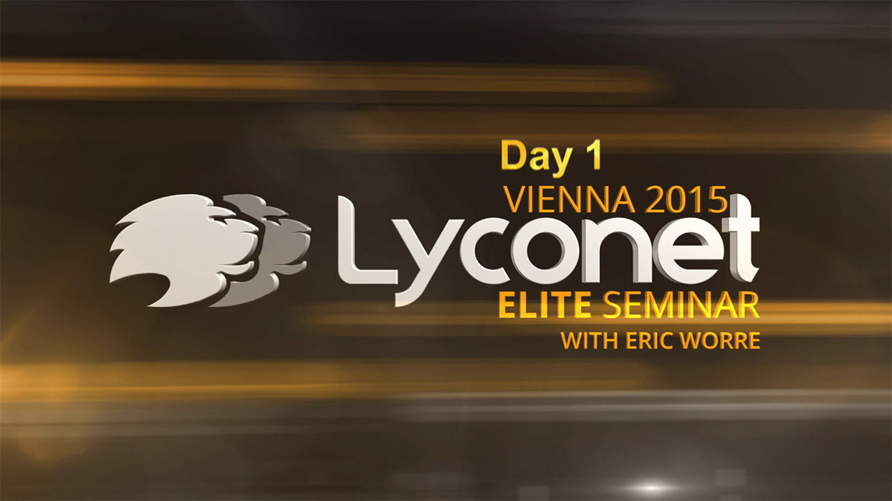 Lyconet Elite Seminar with Eric Worre - Day 1