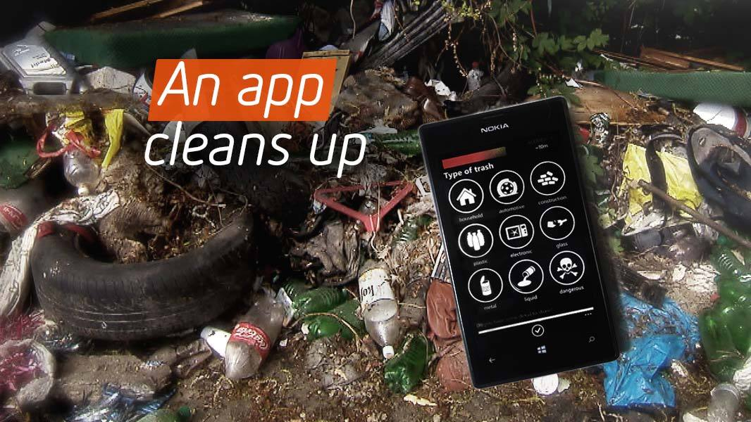 An app cleans up