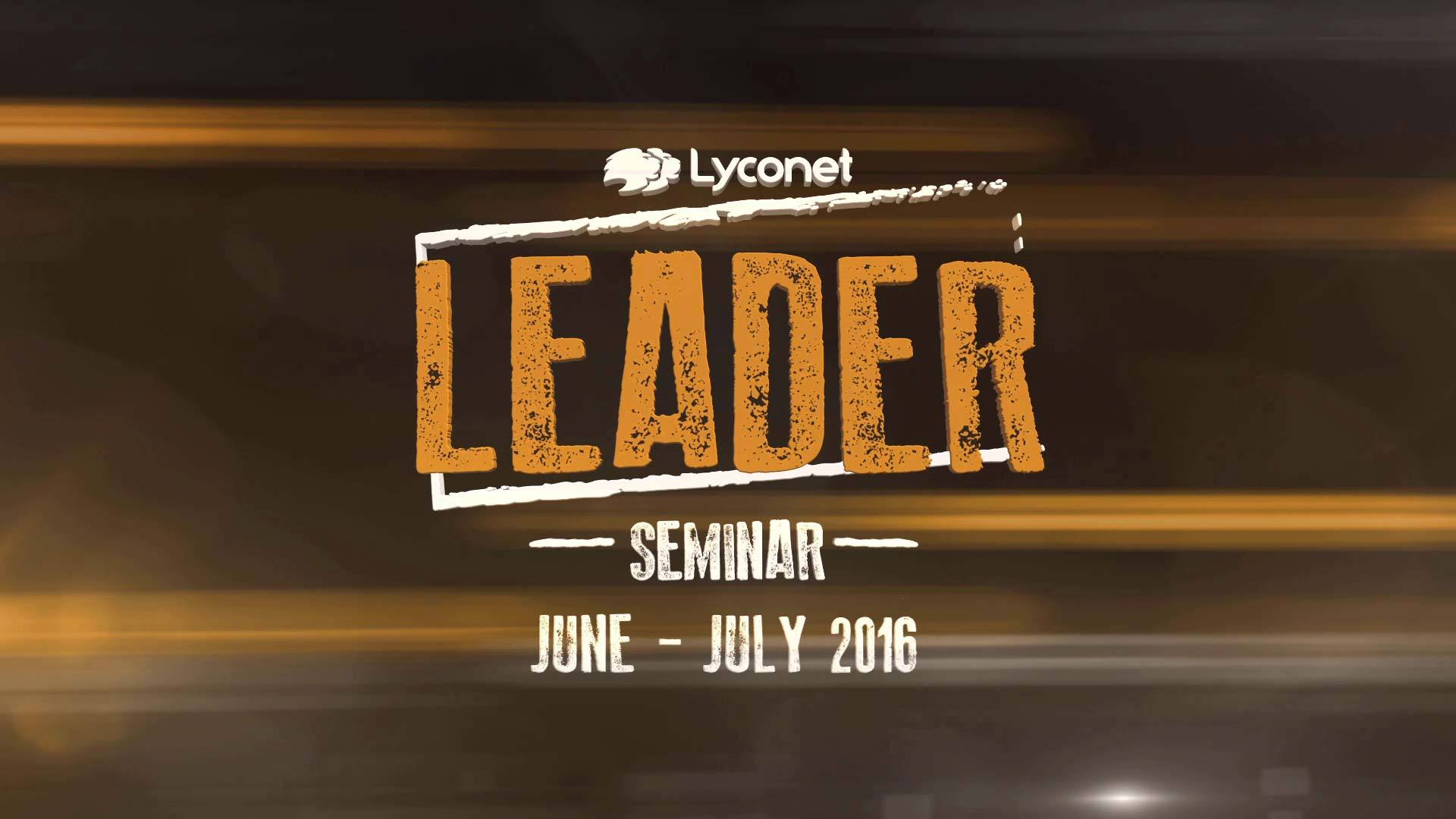 Best of Lyconet Leader Seminar June July 2016