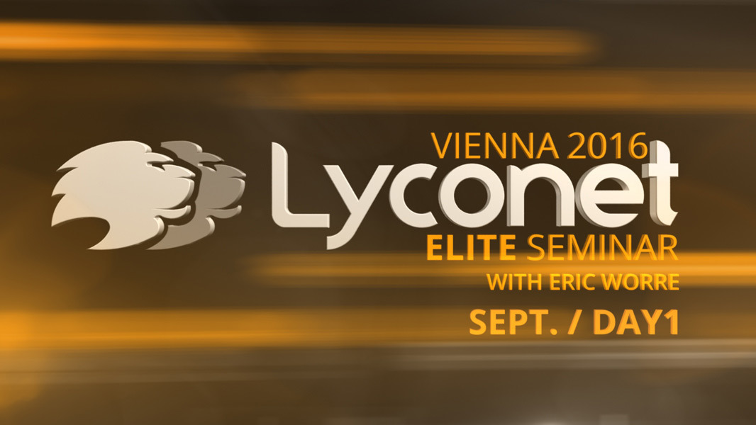 Lyconet Elite Seminar with Eric Worre - Vienna Sept. 2016 - Day 1