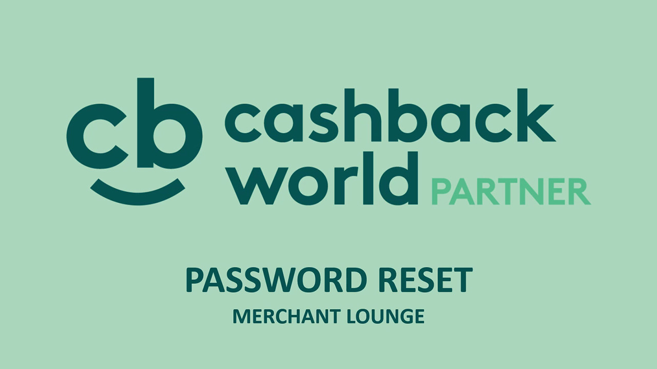Merchant Lounge - Password reset