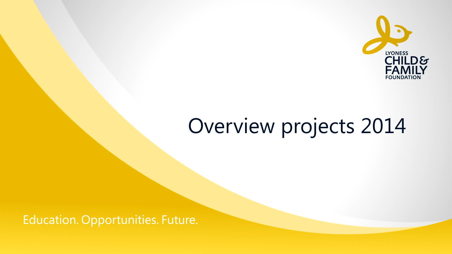 Child&Family Foundation - Overview projects 2014