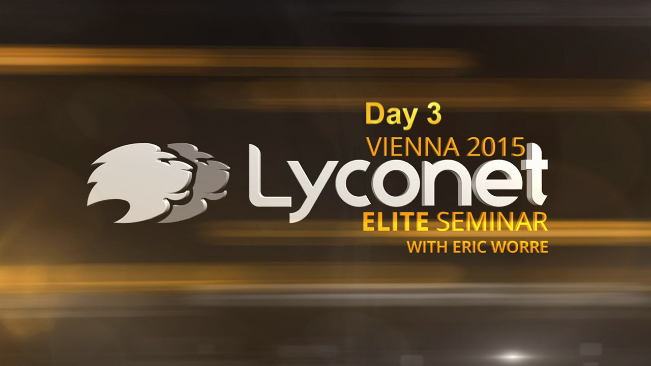 Lyconet Elite Seminar with Eric Worre - Day 3