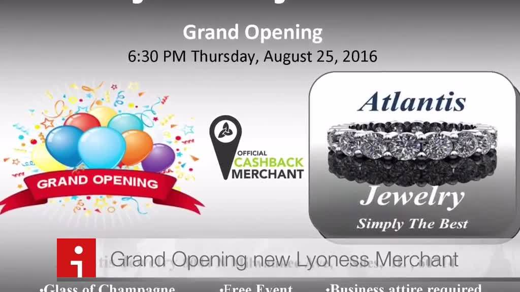Atlantis Jewelry - Grand Opening - New Merchant